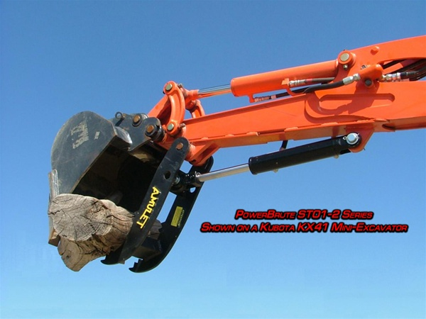 Amulet Powerbrute Hydraulic Excavator Thumbs