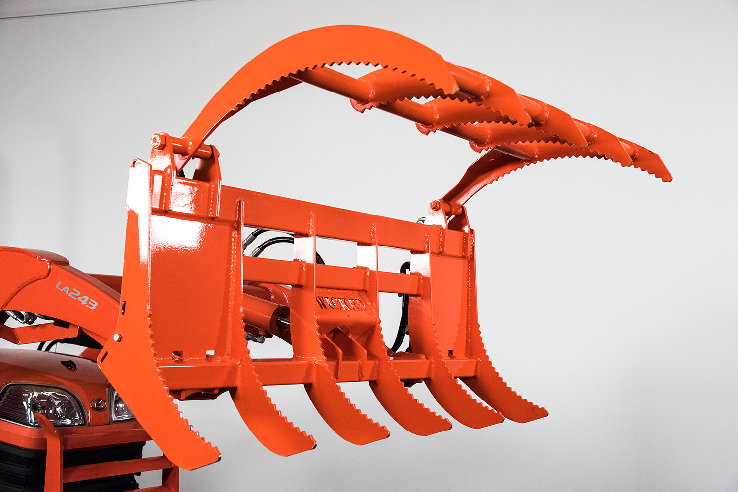 Tractor Implements And Attachments : Wicked root rake grapple for kubota bx tractors tractor