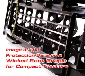 root grapple protection bars